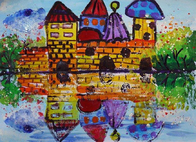 风之彩艺术体验馆 儿童创意绘画 水粉 油画 国画 综合