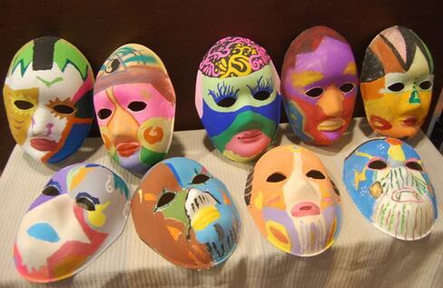 兔总面具手绘