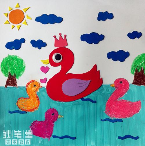 儿童刮画春天作品
