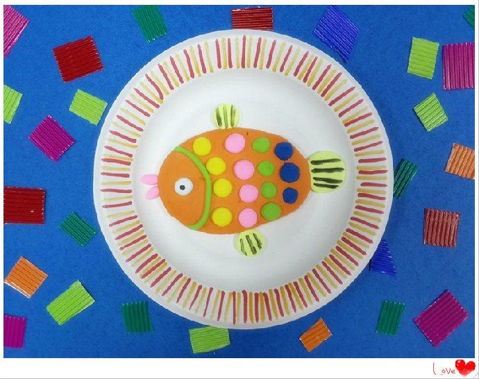 纸盘粘土动物图片