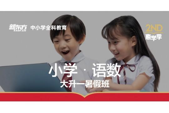 【语文+数学】新东方大升一暑假班开始招生啦!提前为孩子做好暑假打算